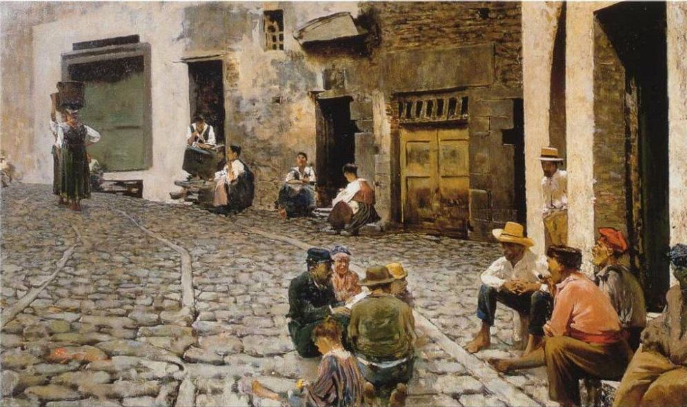 Telemaco Signorini Chiacchiere A Riomaggiore 1893 Usat