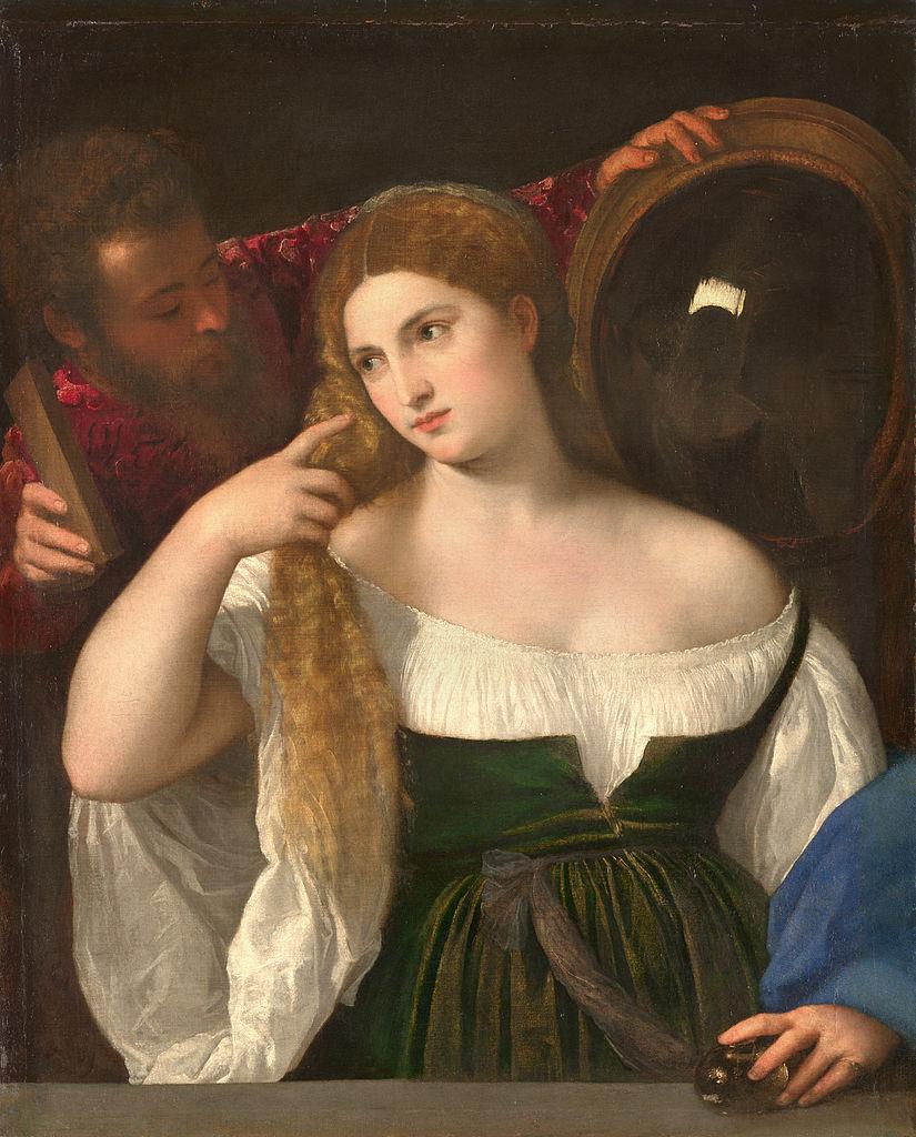 825px Portrait D'une Femme à Sa Toilette, By Titian, From C2RMF Retouched