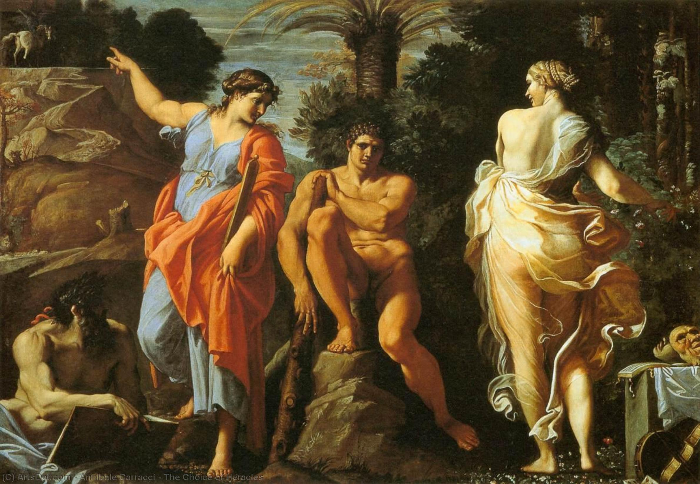 Annibale Carracci The Choice Of Heracles