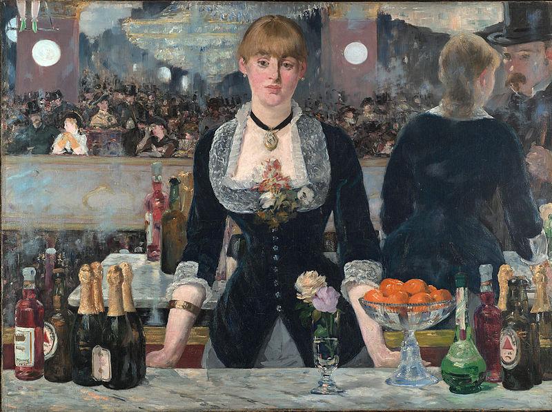 Edouard Manet, A Bar At The Folies Bergère Usa