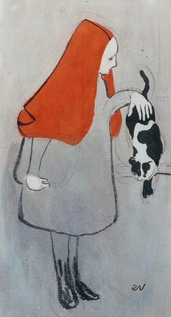 Édouard Vuillard, Jeune Fille Au Chat, 1891
