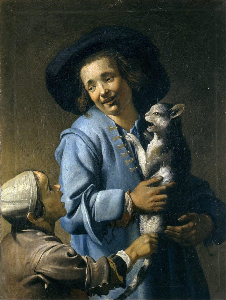 Abraham Bloemaert, Youths Playing With The Cat