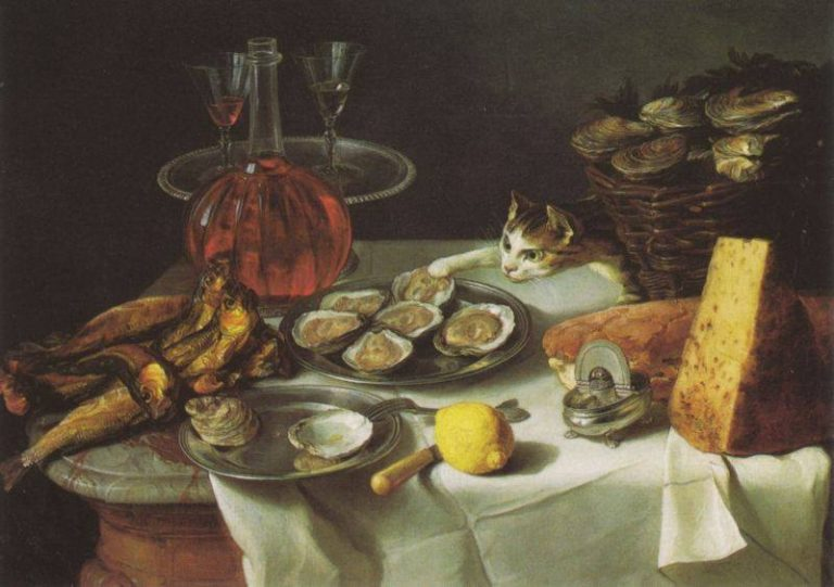 Alexandre François Desportes, Still Life With Cat