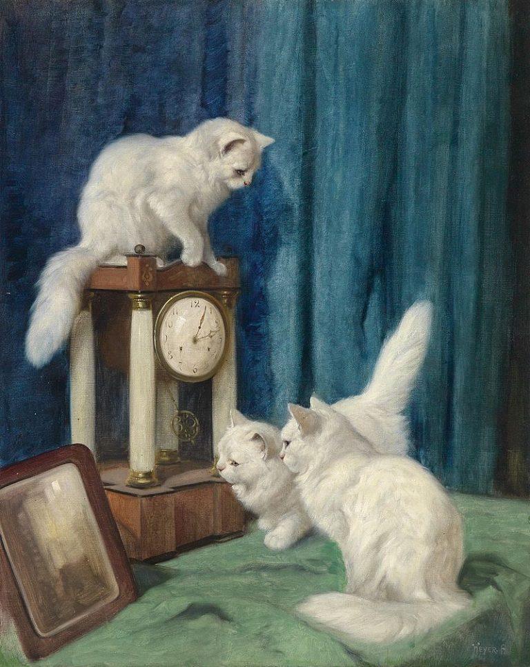 Arthur Heyer, Drei Neugierige Katzen