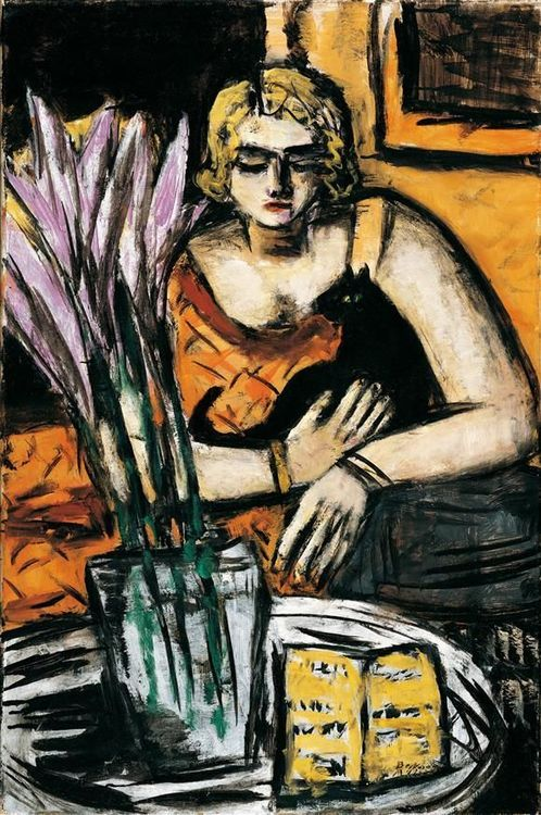 Max Beckmann (1884- 1950), Woman With Cat
