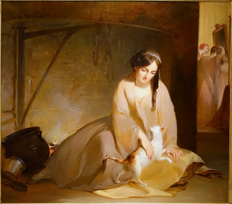 Thomas Sully, Cinderella At The Kitchen Fire, 1843