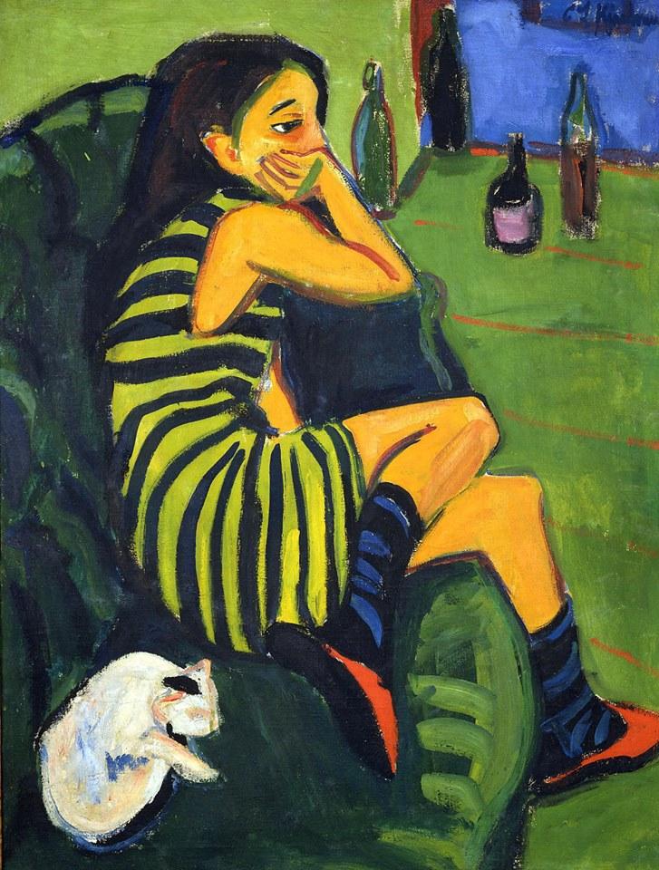 Ernst Ludwig Kirchner, The Artist, Marcella (1910)
