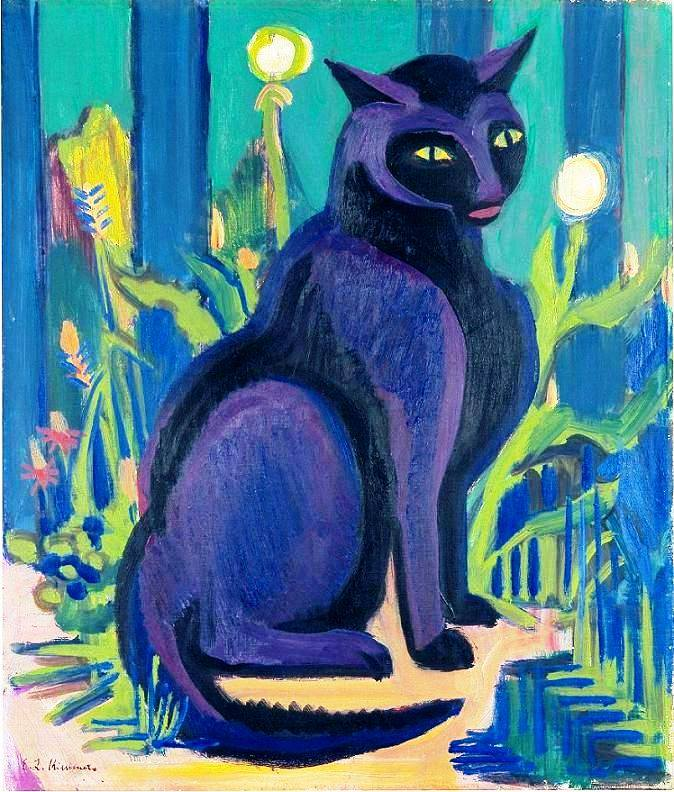 Ernst Ludwig Kirchner, The Black Cat, 1926