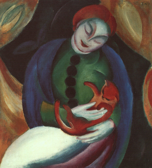 Franz Marc, Girl With Cat (1912)