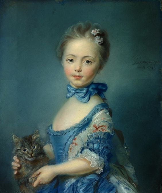 Jean Baptiste Perronneau, Girl With A Kitten 1745