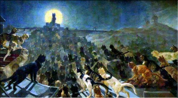 Théophile Alexandre Steinlen (1859-1923),L'Apoteosi Di Gatti A Montmartre, 1905