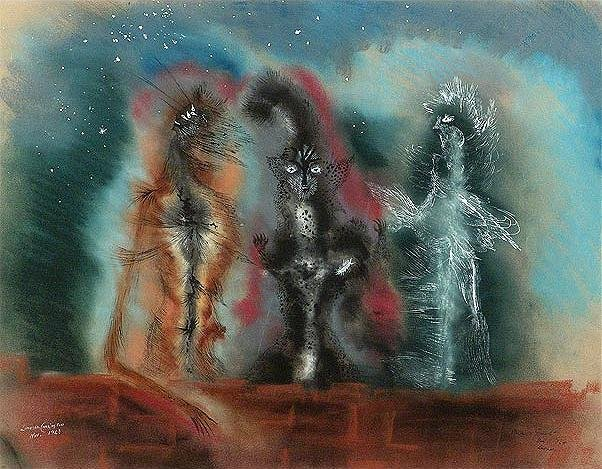 Leonora Carrington, Three Cats