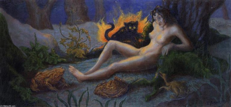 Paul Ranson, Witch With Cat