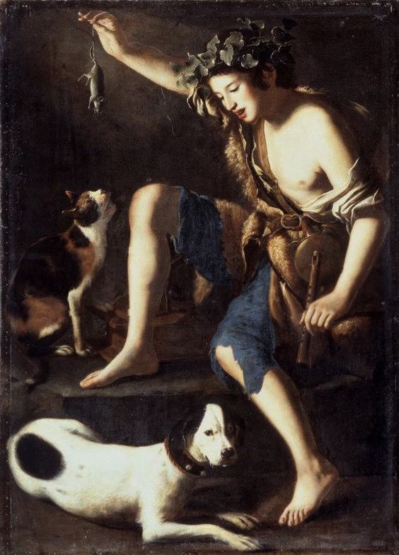 Tommaso Salini, Boy Playing With A Cat