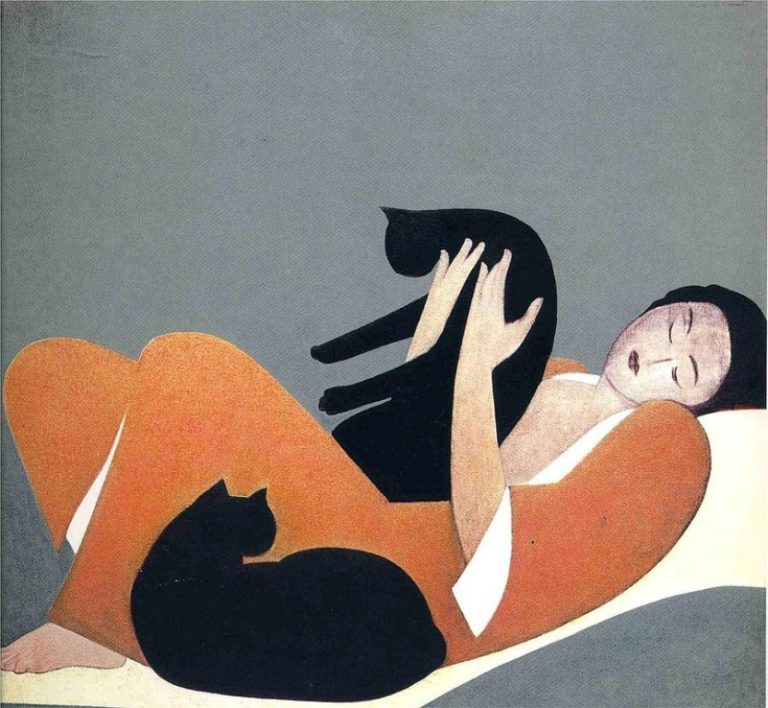 W. Barnett, Woman And Cats