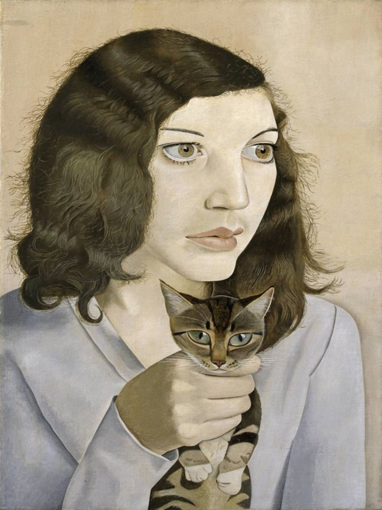 L. Freud, Girl With a Kitten
