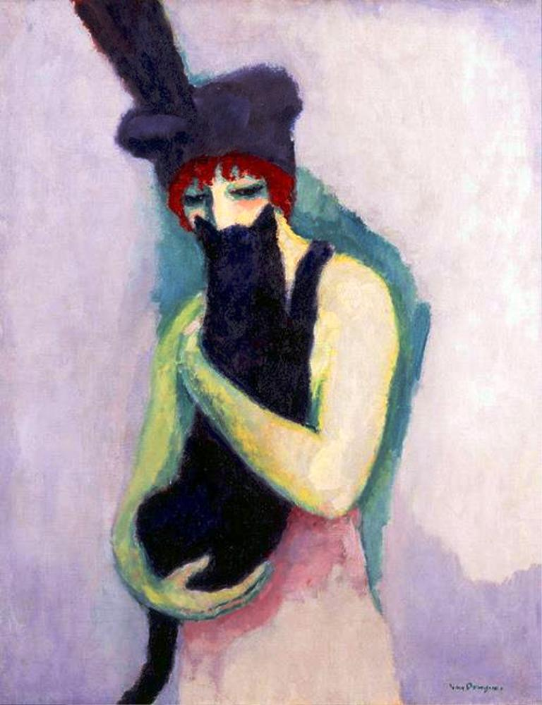 Kees Van Dongen, Woman With Cat